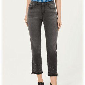 NWT Style & Co. Denim Frayed Hem Cropped Size 12
